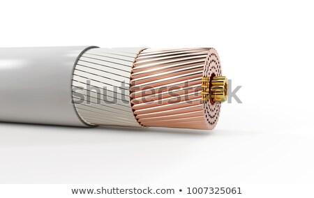 3D resumen nano tubo estructura aislado Foto stock © tussik