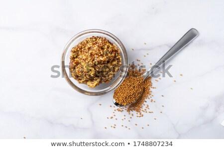 bütün · tahıl · hardal · küçük · çanak · sarı - stok fotoğraf © digifoodstock
