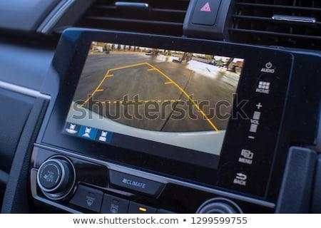 Lencse modern digitális fényképezőgép hátsó nézet izolált fehér Stock fotó © nemalo