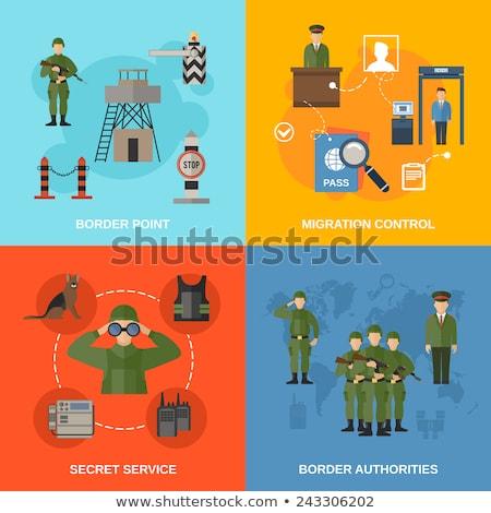 Militaire infographics vector leger vliegtuigen raket Stockfoto © robuart