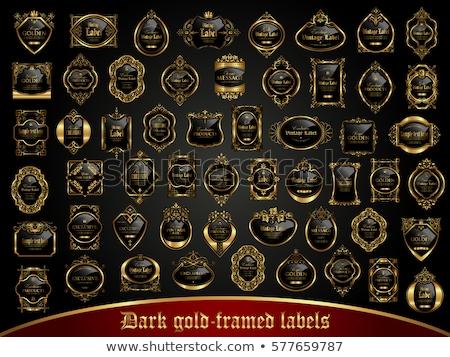 Büyük toplama karanlık etiketler bağbozumu stil Stok fotoğraf © blue-pen