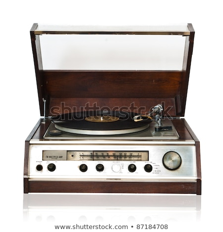 Vintage record player with radio tuner Stock photo © Valeriy