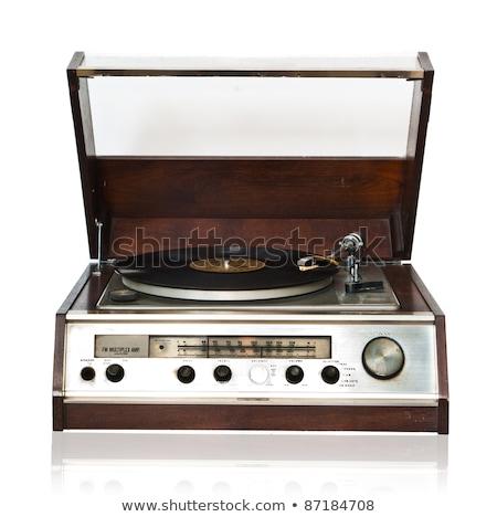 antigo · rádio · isolado · sombra · retro · soar - foto stock © valeriy