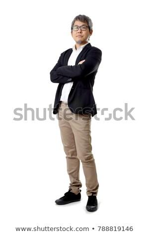 Stockfoto: Asian · zakenman · armen · gevouwen