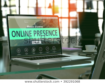 Landing Page of Laptop with Be Visible Concept. 3D Illustration. Stock photo © tashatuvango