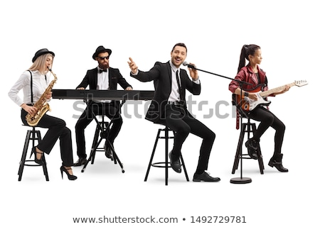 Male singer playing piano at music concert Stock photo © wavebreak_media