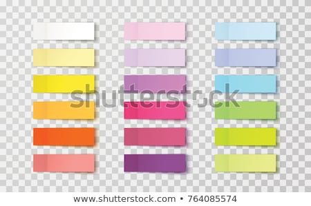 set of paper stickers for notes on transparent background stock photo © orensila