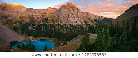 Blauw meer panorama krater uitgestorven vulkanisch Stockfoto © dirkr