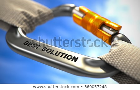 Chrome Carabine Hook with Text Solution. Stock photo © tashatuvango