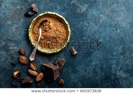 Por bab étcsokoládé darabok gasztronómiai felső Stock fotó © yelenayemchuk