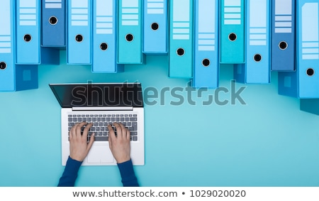vinden · documenten · archief · metalen · rack · een - stockfoto © make