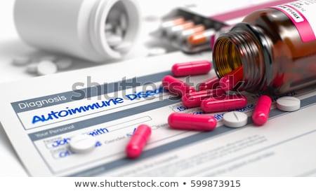 autoimmune disease   wording in medical history 3d render stock photo © tashatuvango