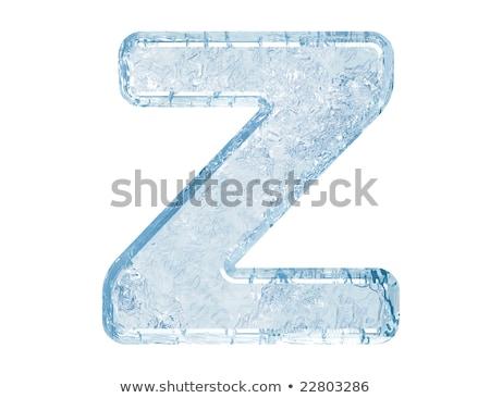 Ice font letter Z 3D Stock photo © djmilic