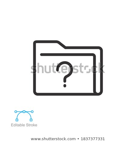 Ask - modern vector line design single icon. Stock photo © Decorwithme