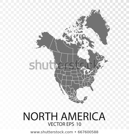 norte · américa · ver · México · Canadá · céu - foto stock © ixstudio