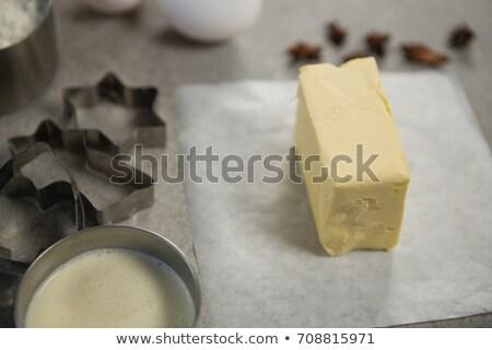 Tereyağı balmumu kâğıt sıvı çanak tablo Stok fotoğraf © wavebreak_media