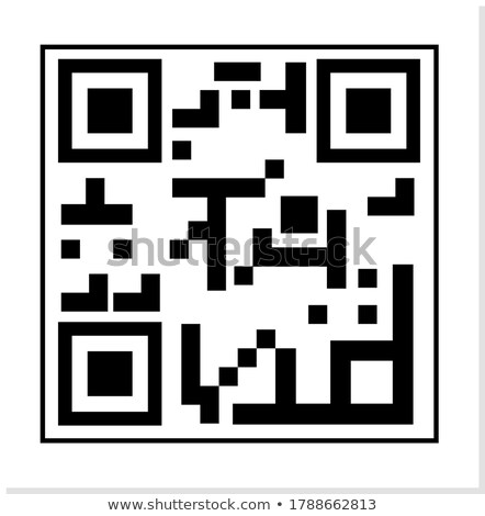 Classic QR Code Vector. Black And White. Scanning Technology Isolated Illustration Stock photo © pikepicture