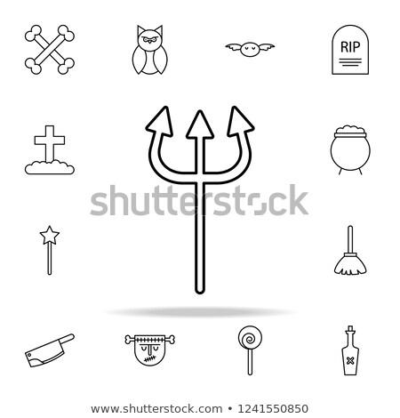 силуэта вектора набор изолированный белый острый Сток-фото © pikepicture