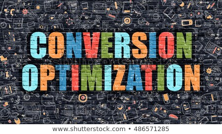 Multicolor Conversion Optimization on Dark Brickwall.  Stock photo © tashatuvango