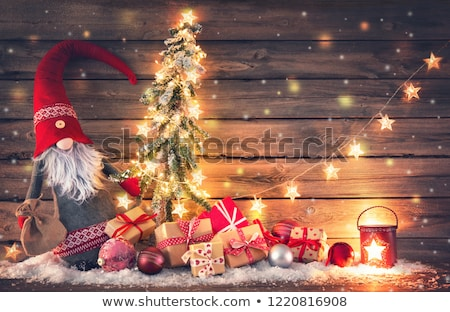 Snowflake Background with Santa Claus Stock photo © derocz