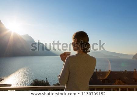 Droom ontdekken berg landschap zee Stockfoto © robuart