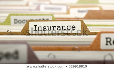 Folder in Catalog Marked as Travel Insurance. Stock photo © tashatuvango