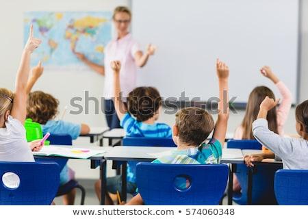 reifen · weiblichen · Studenten · Hand · Klasse · Stift - stock foto © monkey_business