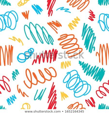 Pen trekken hand potlood lijn abstract Stockfoto © tony4urban