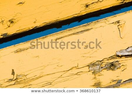 Citromsárga időjárás elnyűtt fából készült textúra festék Stock fotó © stevanovicigor