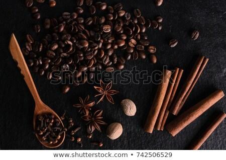 Coffee beans and cinnamon sticks Stock photo © Valeriy