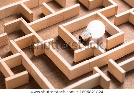 Odkryć sukces ukryty działalności zysk rozdarty Zdjęcia stock © Lightsource