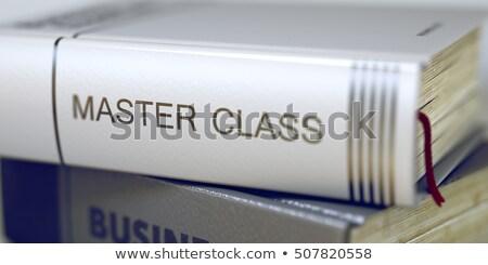 Libro título maestro clase 3D Foto stock © tashatuvango