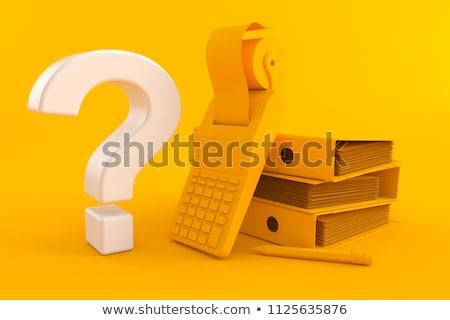 Dobrador catálogo respostas ver Foto stock © tashatuvango