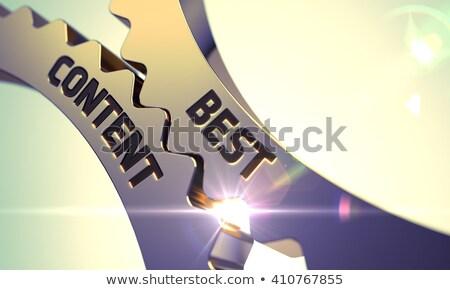 inhoud · beheer · gouden · internet · tekst - stockfoto © tashatuvango