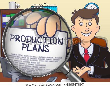 Production Plan through Lens. Doodle Concept. Stock photo © tashatuvango