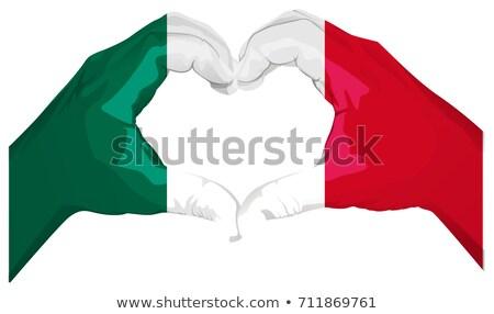mexican · bandiera · vettore · sole · mappa · verde - foto d'archivio © orensila