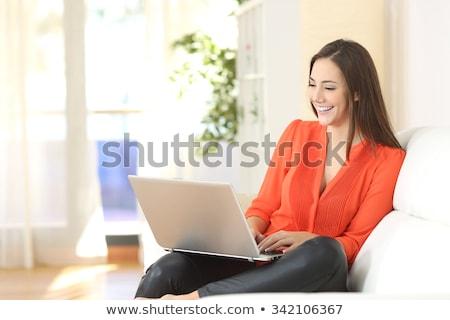 buy online on laptop in conference room stock photo © tashatuvango