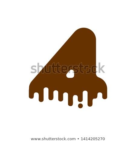 csokoládé · hab · vágási · körvonal · izolált · fehér · csokoládé · krém - stock fotó © maryvalery