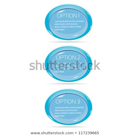 kék · párbeszéd · buborék · absztrakt · terv · művészet - stock fotó © olgayakovenko