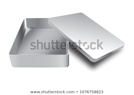 Tin Box Can Template Vector. 3d Realistic Empty Packaging Container Blank. Food Container. Isolated  Stock photo © pikepicture
