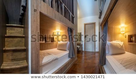 Herberg icon witte business familie huis Stockfoto © smoki