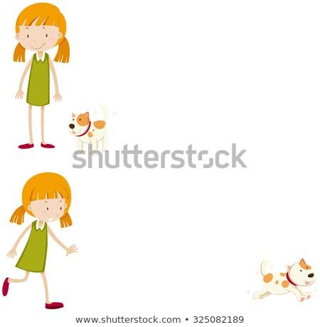 çocuklar uzak örnek küçük erkek kız Stok fotoğraf © lenm
