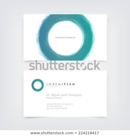 round circle logo logotype brand template vector art Stock photo © vector1st
