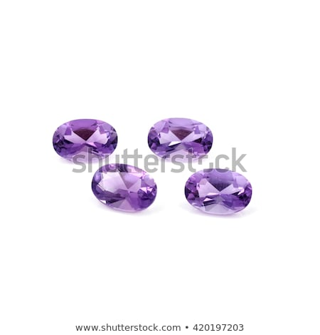 Amethyst precious oval stone Stock photo © AlexMas