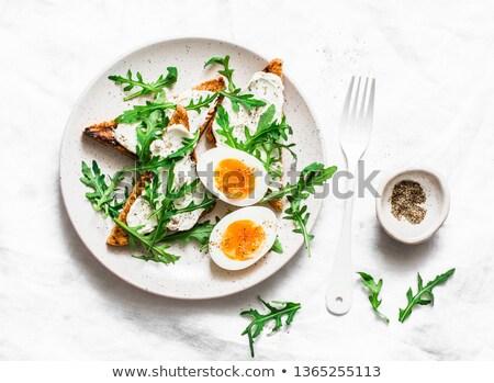 boiled egg and vegetable Stock photo © M-studio