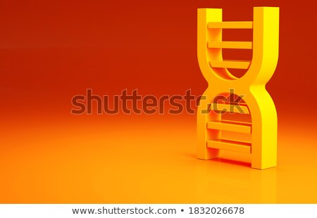 3d illustration of abstract DNA orange helix isolated. Stock photo © anadmist