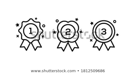 first second and third place medals with ribbons stock photo © studioworkstock