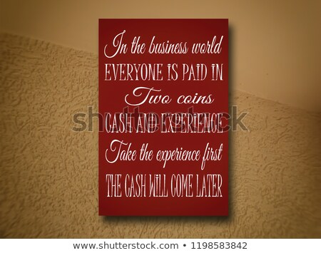 Stock photo: Money Will Come Positive Poster