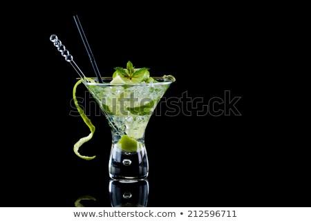 Fresh lime isolated over black Stock photo © deandrobot