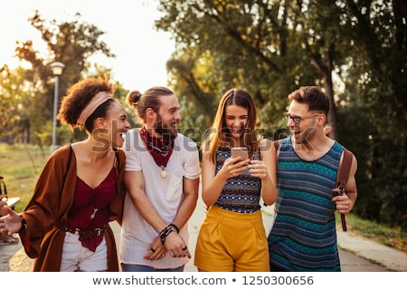 Four young friends Stock photo © IS2